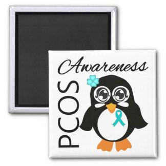 Pingüino de la conciencia de PCOS Imán
