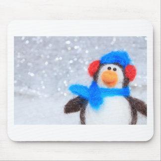 Pingüino de las felices Navidad Alfombrilla De Ratón