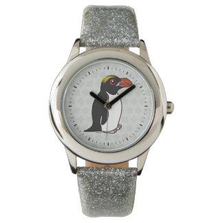 Pingüino de los macarrones de Birdorable Reloj De Pulsera