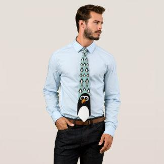 Pingüino de lujo corbata personalizada