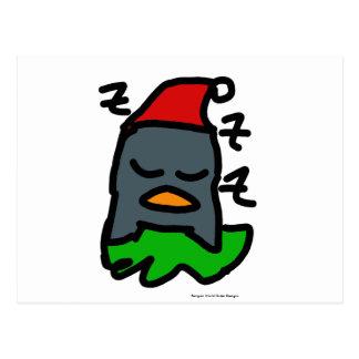 Pingüino de Zzz del día de fiesta por diseños del Postal