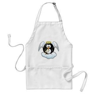 Pingüino del ángel del navidad delantal
