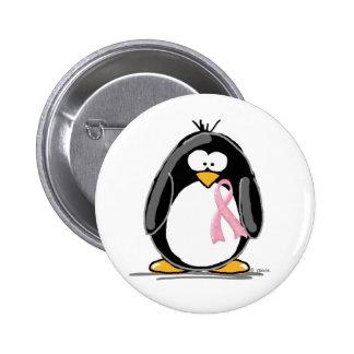 Pingüino del cáncer de pecho pins