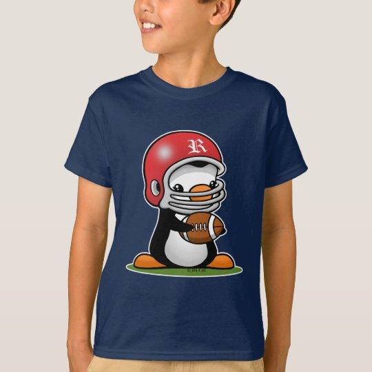 Pingüino del fútbol camiseta