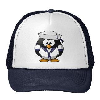 Pingüino del marinero gorro de camionero