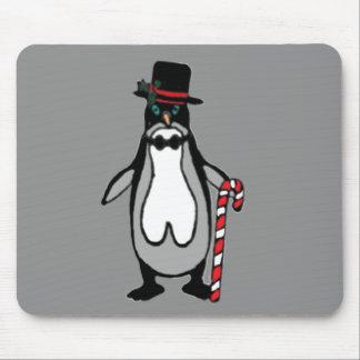 Pingüino del navidad alfombrilla de ratón