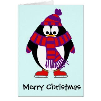 Pingüino del navidad tarjeta de felicitación