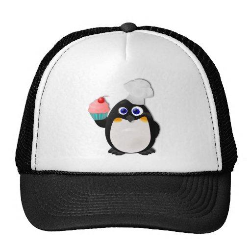 Pingüino del panadero con la magdalena II Gorra