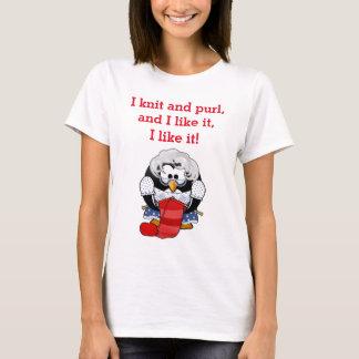 Pingüino del punto y de la puntilla camiseta