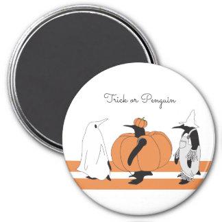 Pingüino divertido lindo Halloween personalizado Imanes
