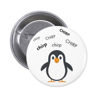 Pingüino Emoji lindo del chirrido Chapa Redonda De 5 Cm