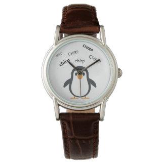 Pingüino Emoji lindo del chirrido Reloj