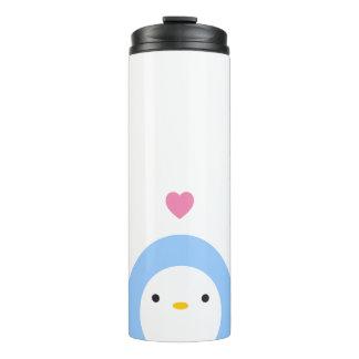 Pingüino en vaso del amor termo térmico