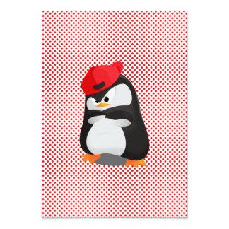 Pingüino enojado de Hip Hop Invitación 8,9 X 12,7 Cm
