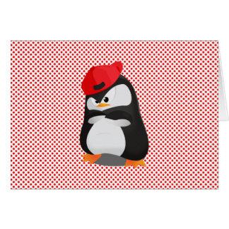 Pingüino enojado de Hip Hop Tarjeta De Felicitación