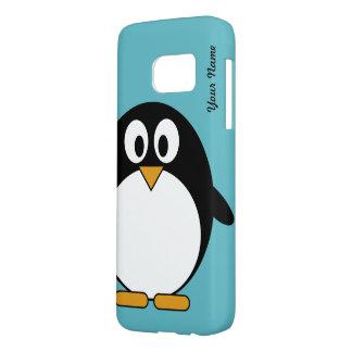 Pingüino lindo del dibujo animado funda samsung galaxy s7