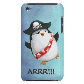 Pingüino lindo del pirata iPod touch carcasa