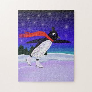 Pingüino patinador puzzle