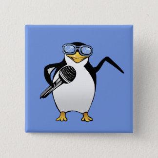 Pingüino que canta el botón cuadrado