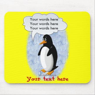 Pingüino que habla alfombrilla de ratón