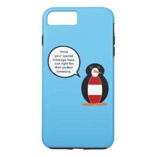 Pingüino que habla de la bandera austríaca funda iPhone 7 plus