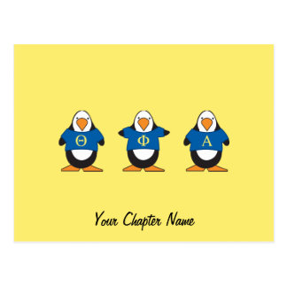 Pingüinos con el camisetas postal