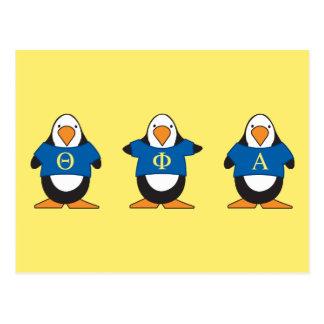 Pingüinos con el camisetas tarjetas postales