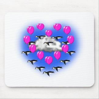 pingüinos de las tarjetas del día de San Valentín, Alfombrilla De Ratón