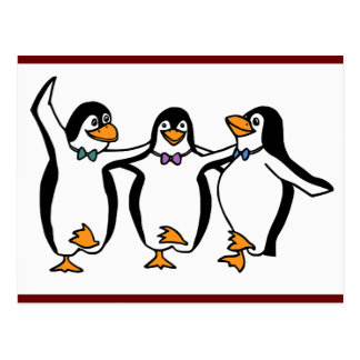 Pingüinos del baile postal