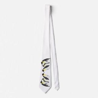 Pingüinos del espejo corbata personalizada