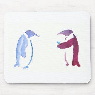 Pingüinos del fiesta alfombrilla de ratón