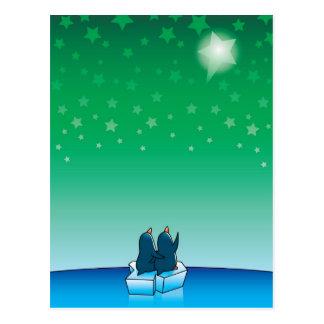 Pingüinos del navidad tarjetas postales
