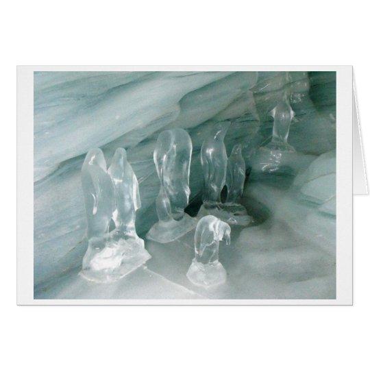 Pingüinos en hielo tarjeta de felicitación