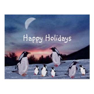 Pingüinos en las postales del hielo