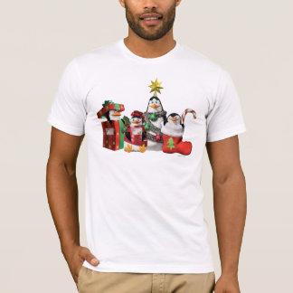 Pingüinos festivos camiseta