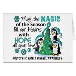 Pingüinos PKD del navidad Tarjetas
