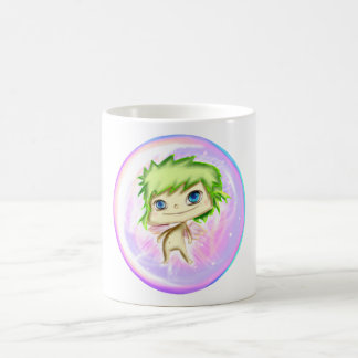 Pink and Green Angel Cup Taza De Café