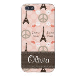 PInk Eiffel Tower  Cover For iPhone 5