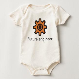 Piñón - ingeniero futuro dentro body para bebé