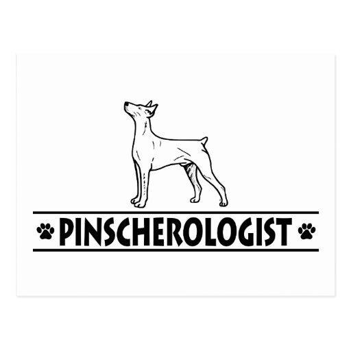 Pinscher alemán chistoso postales
