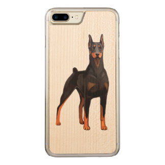 Pinscher del Doberman Funda Para iPhone 8 Plus/7 Plus De Carved