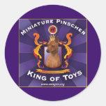 Pinscher miniatura, rey de juguetes pegatina redonda