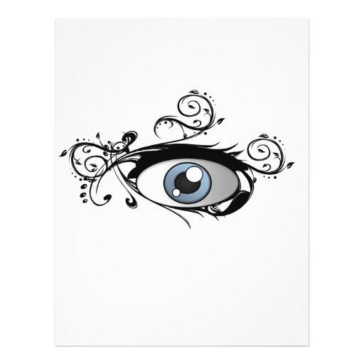Pintada 1 del ojo tarjetas publicitarias