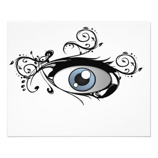 Pintada 1 del ojo flyer a todo color