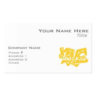 Pintada ambarina amarilla del amor plantilla de tarjeta personal