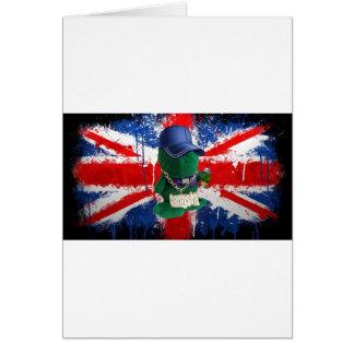 Pintada británica Fonty de la bandera Tarjeta De Felicitación