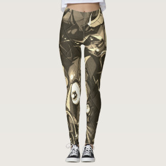 Pintada Camo abstracto Leggings
