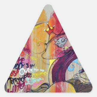Pintada colorida pegatina triangular