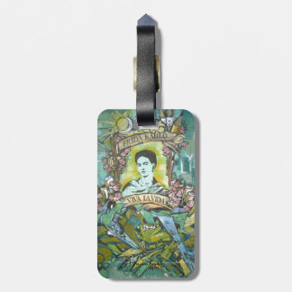 Pintada de Frida Kahlo Etiquetas Para Maletas