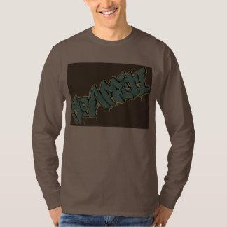 PINTADA de la blusa de manga larga de los hombres Camisetas